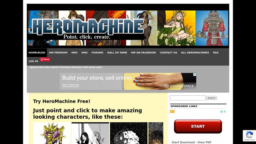 HeroMachine Landing Page