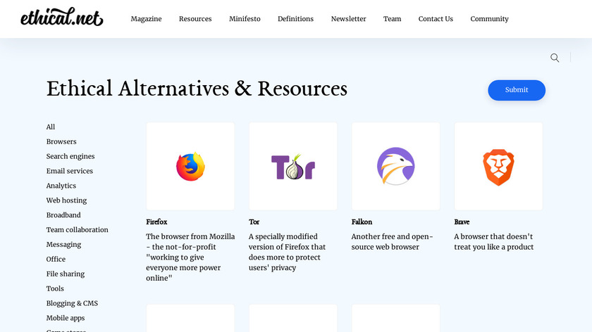 Ethical Resources Landing Page