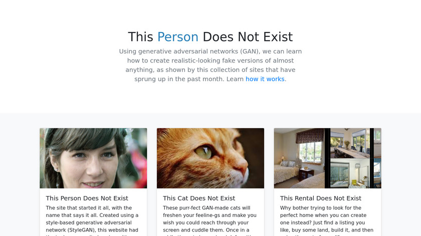 This X Does Not Exist Landing Page