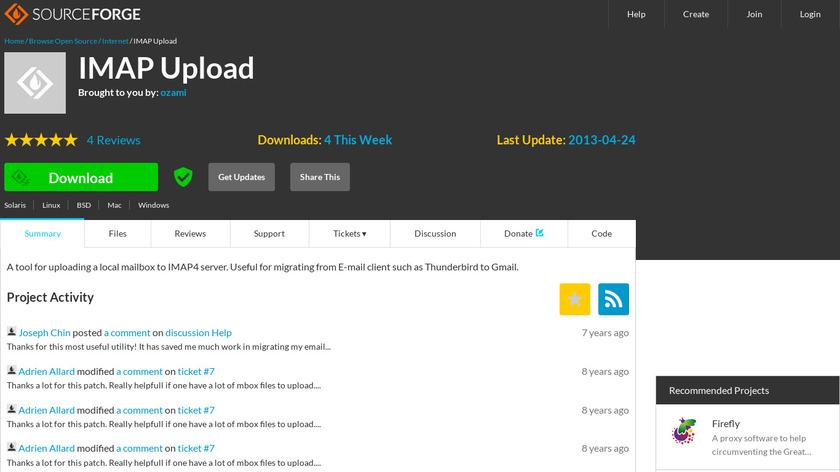 IMAP Upload Landing Page