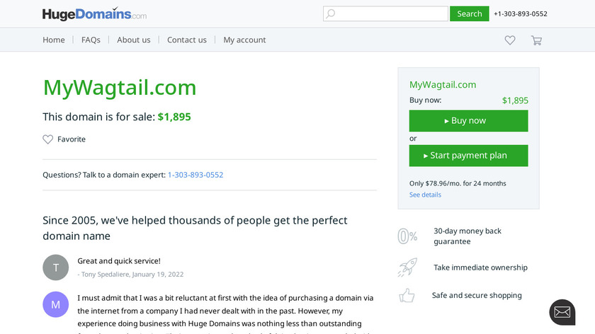 Wagtail Landing Page