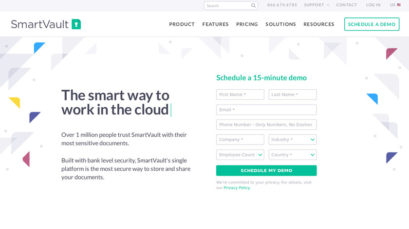 SmartVault Landing Page