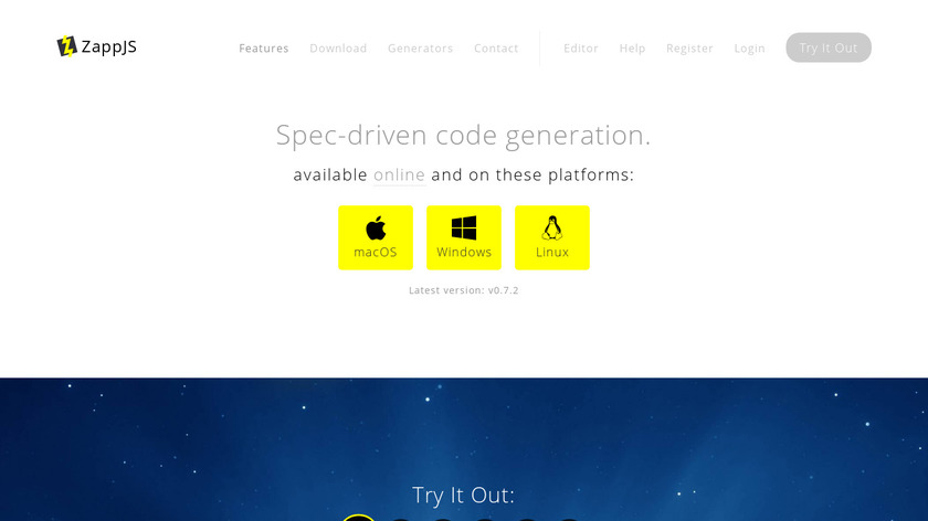 ZappJS Landing Page