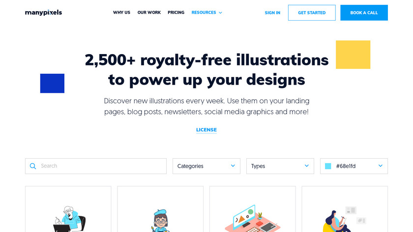 Illustration Gallery Landing Page