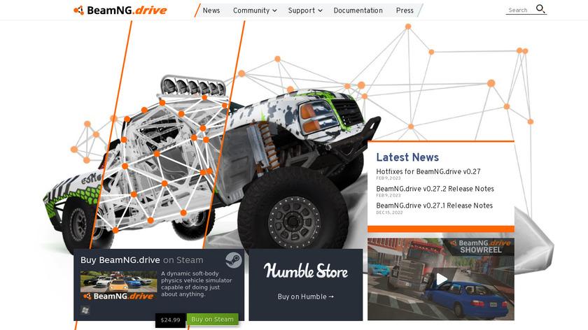 BeamNG.drive Landing Page