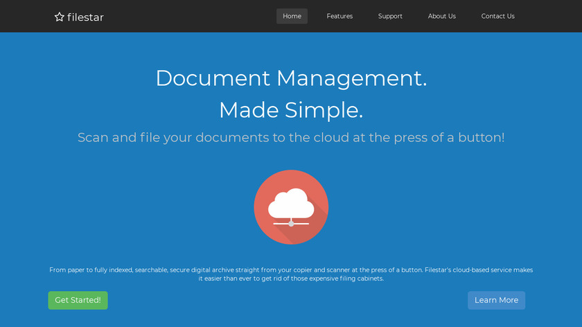 FileStar Document Manager Landing Page