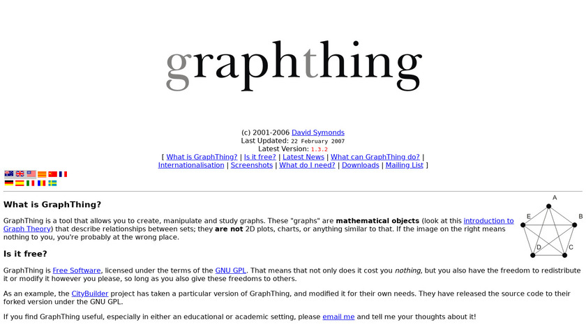 GraphThing Landing Page