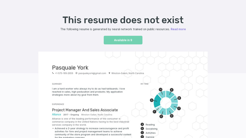 This Resume Does Not Exist Landing Page