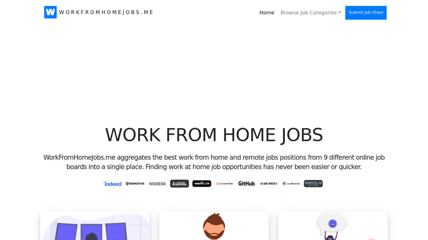 Work From Home Jobs Landing Page