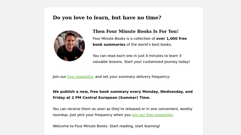 Four Minute Books Landing Page