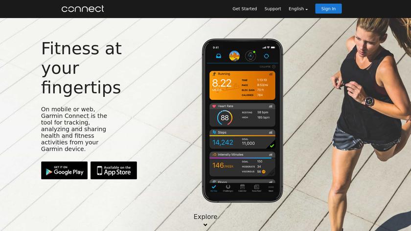 Garmin Connect Landing Page
