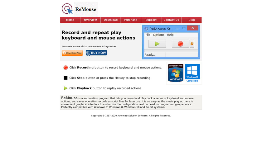 ReMouse Landing Page