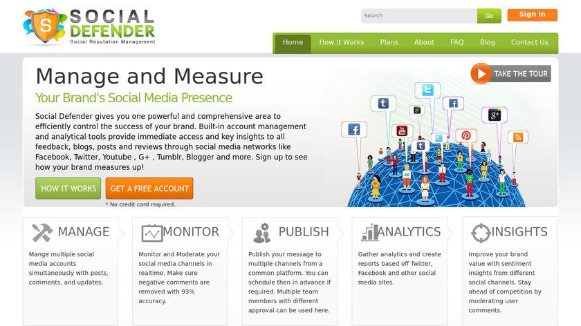 SocialDefender Landing Page