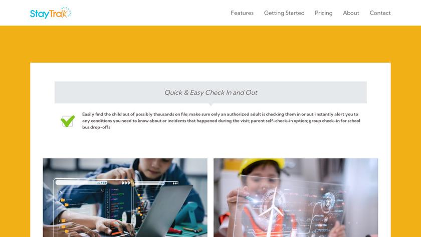 StayTrak Landing Page