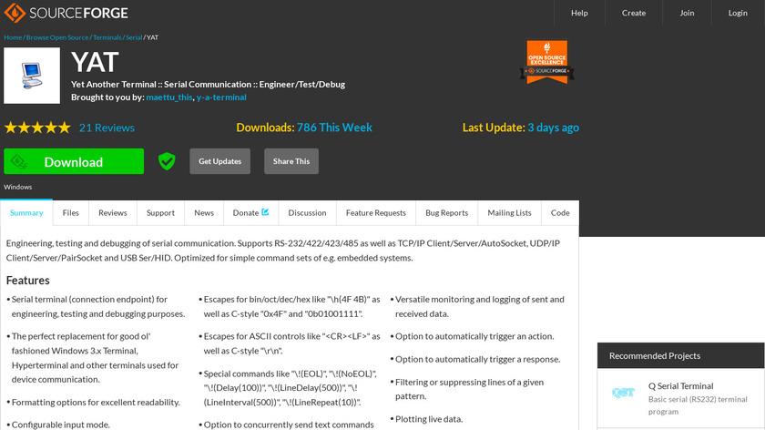 YAT - Yet Another Terminal Landing Page