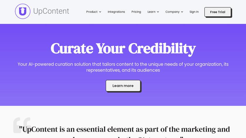 UpContent Landing Page