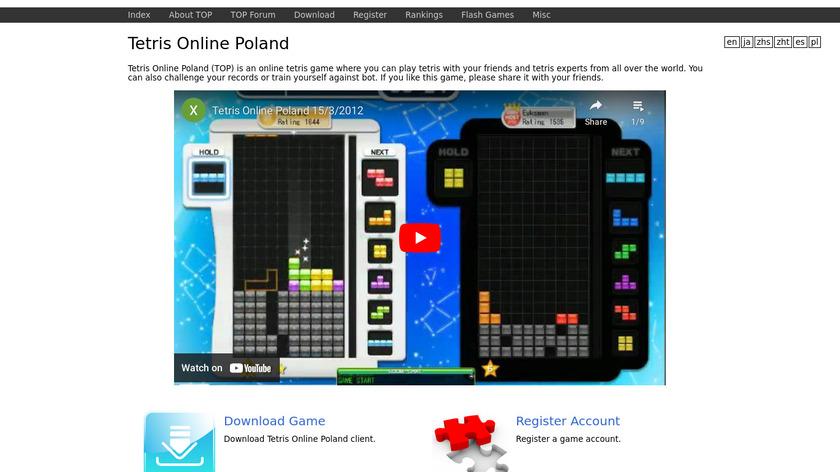 Tetris Online Poland Landing Page