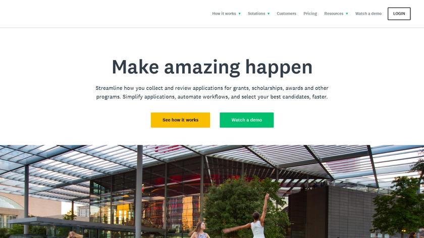SurveyMonkey Apply Landing Page