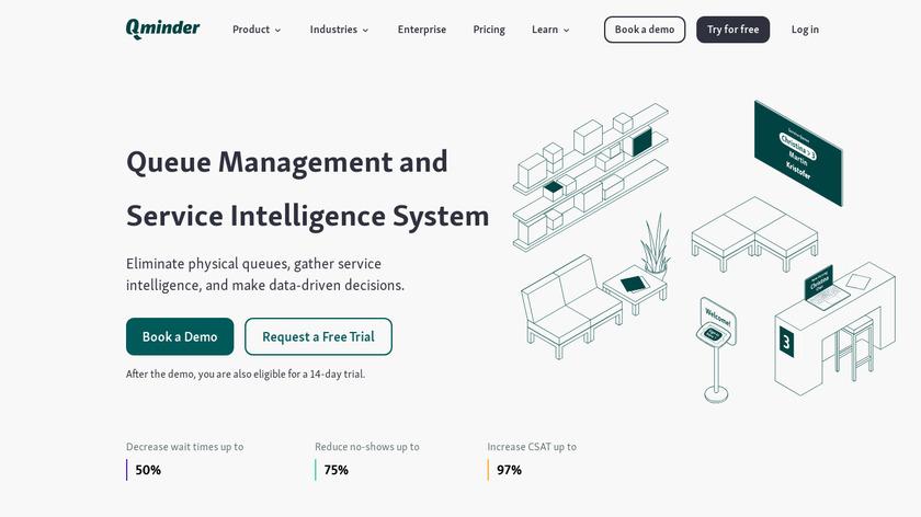 Qminder Landing Page