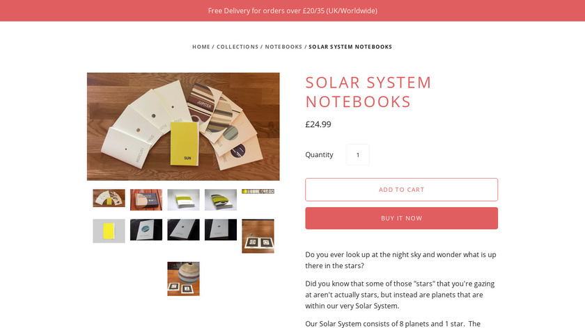 Solar System Notebook Set Landing Page