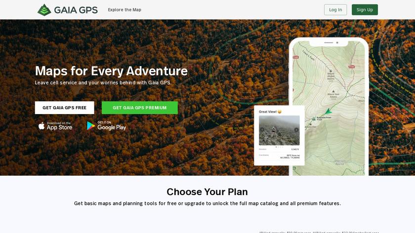 Gaia GPS Landing Page