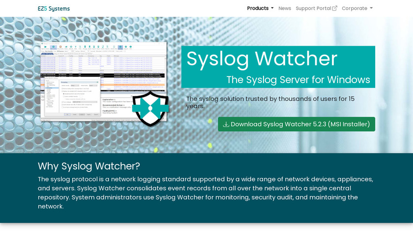 Syslog Watcher Landing Page
