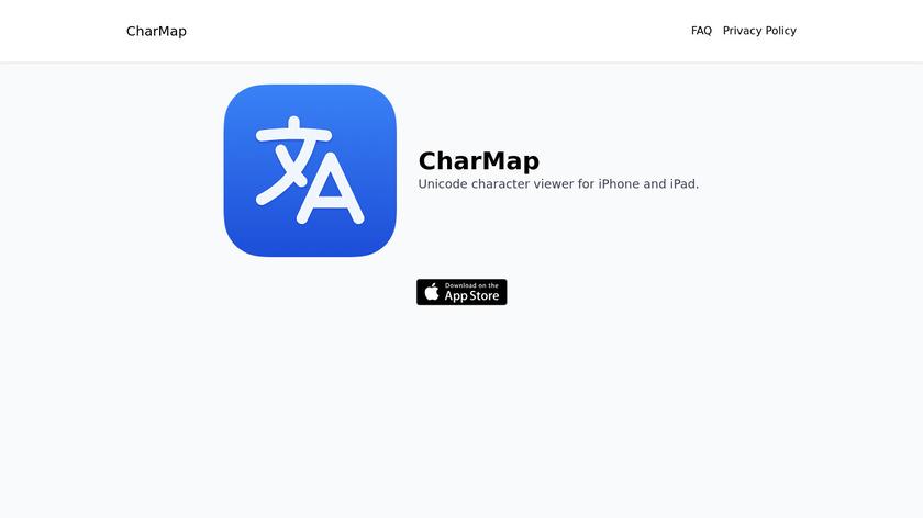 CharMap Landing Page