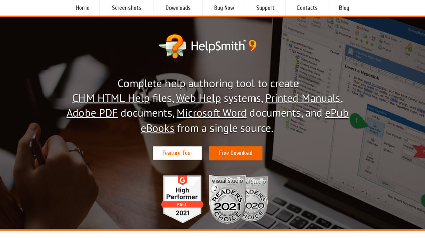 HelpSmith Landing Page