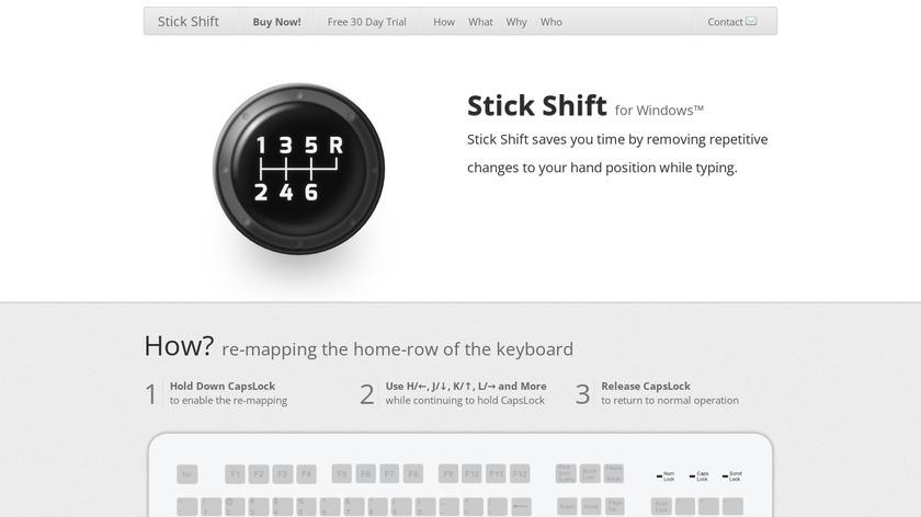 Stick Shift Landing Page