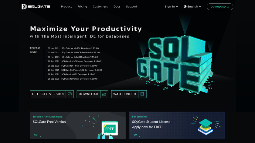 SQLGate Landing Page