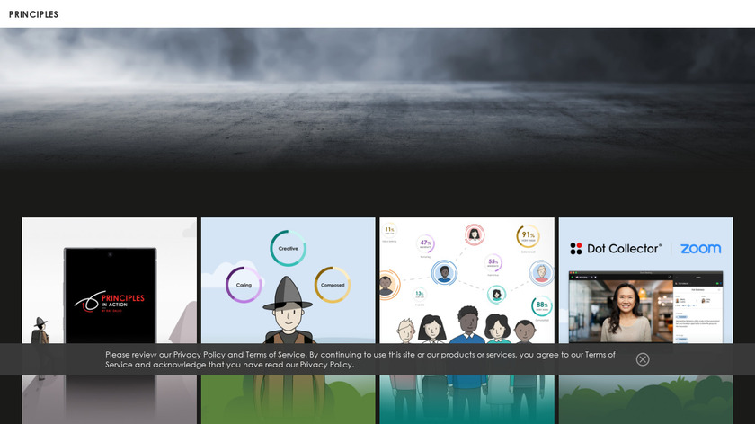 Principles in Action Landing Page