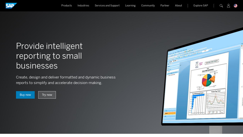 SAP Crystal Reports Landing Page