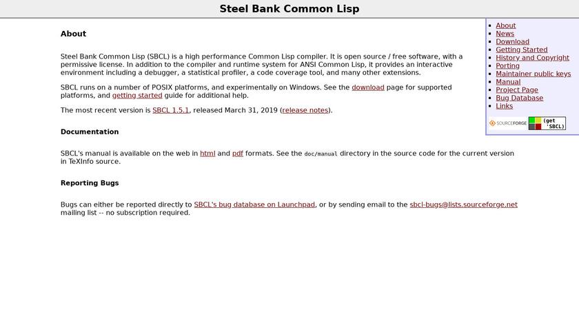 Steel Bank Common Lisp Landing Page