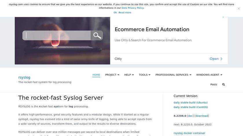 rsyslog Landing Page