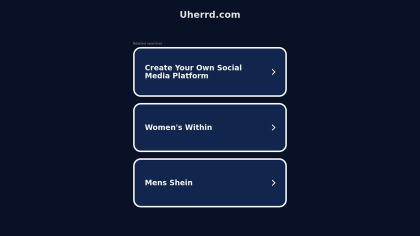 uHerrd Landing Page