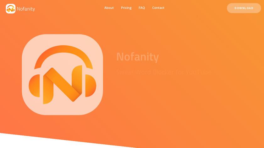 Nofanity Landing Page