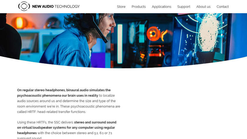 Spatial Sound Card Landing Page