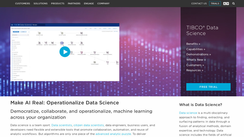 STATISTICA Landing Page