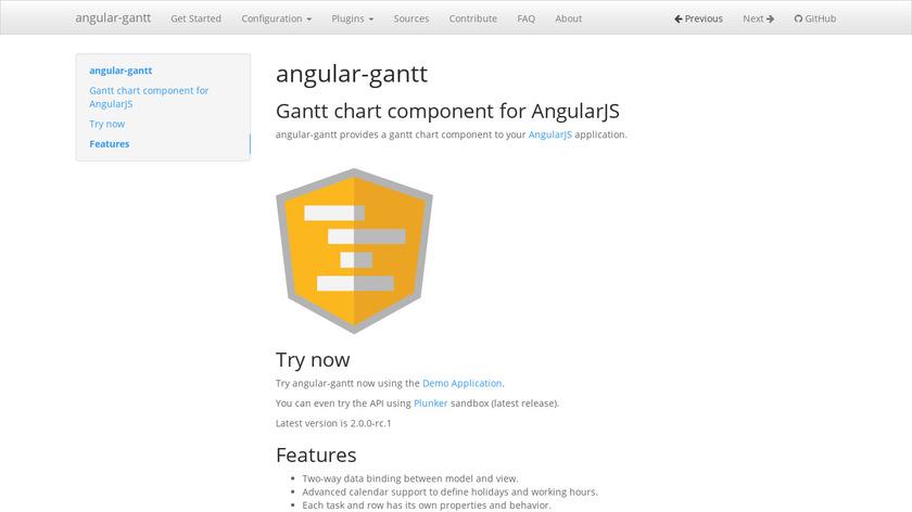 angular-gantt Landing Page