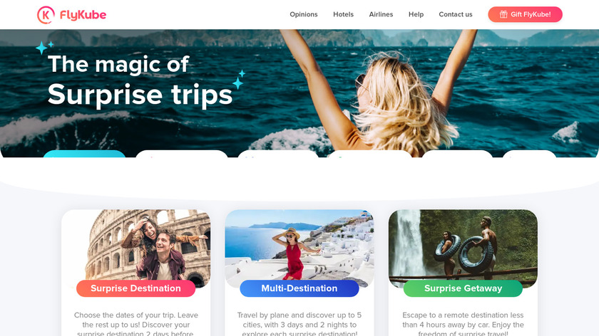 Flykube Landing Page