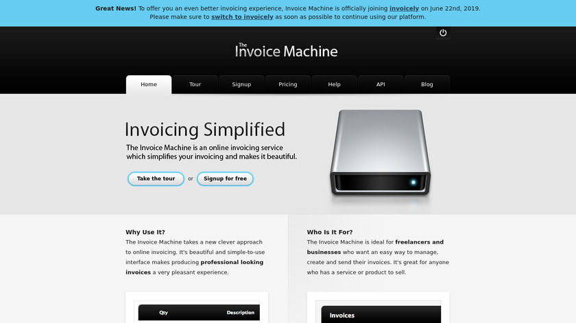 The Invoice Machine Landing Page