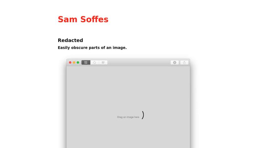 Redacted Landing Page