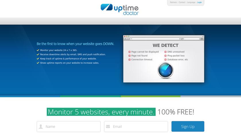 Uptime Doctor Landing Page