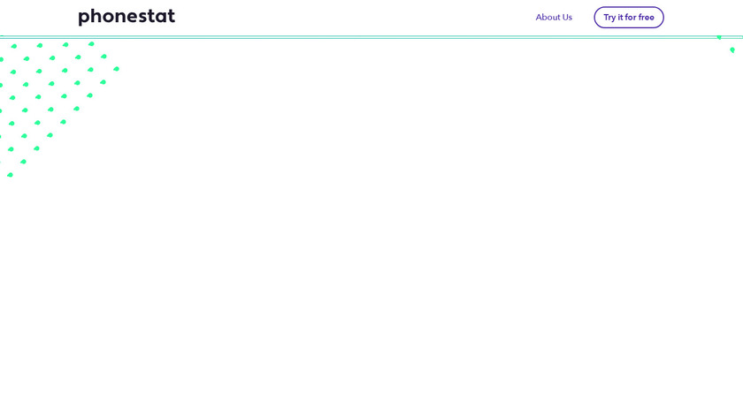 Phonestat Landing Page