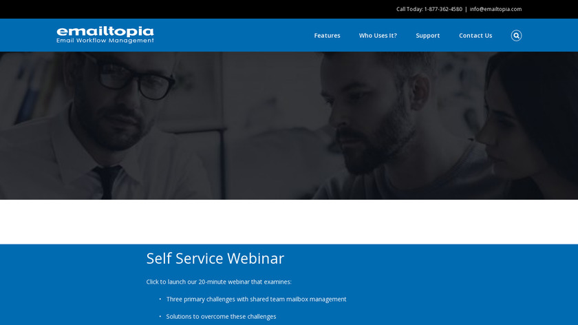 emailtopia Response Landing Page