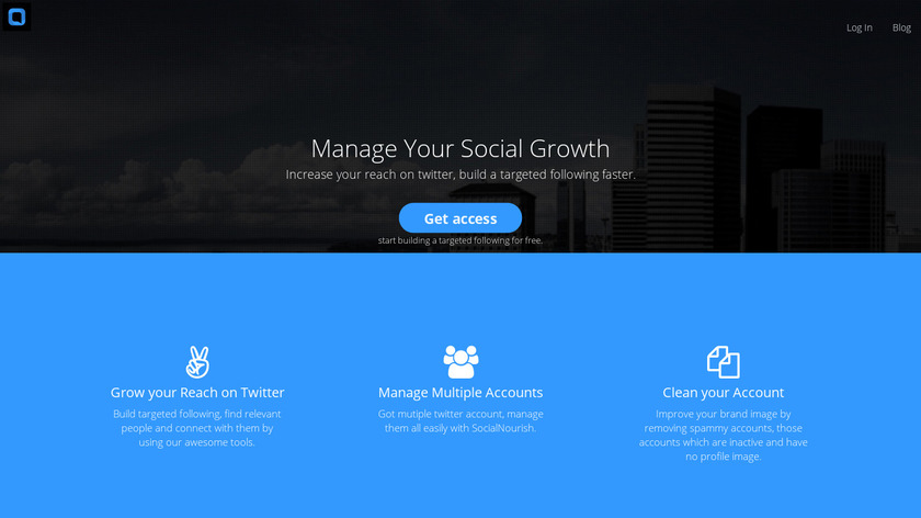 SocialNourish Landing Page