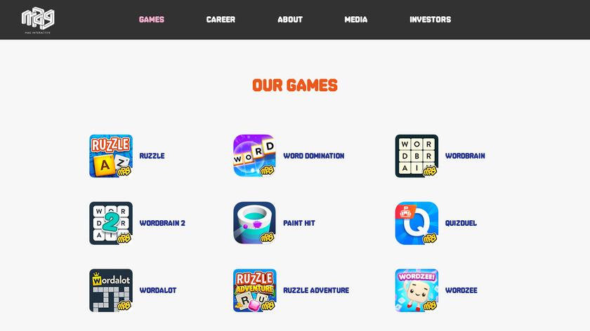 Ruzzle Adventure Landing Page