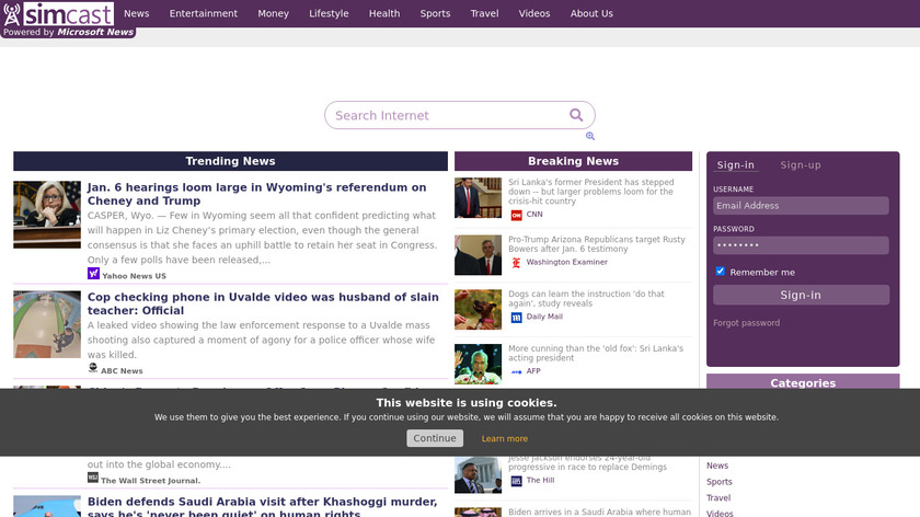 BA APPS Landing Page