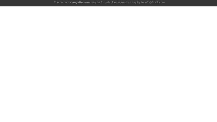 SlangSite.com Landing Page