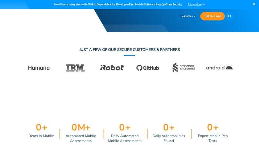 NowSecure Landing Page
